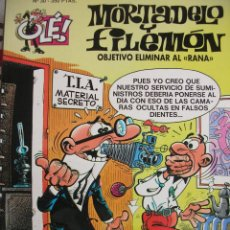 Tebeos: MORTADELO Y FILEMON Nº 30 OBJETIVO ELIMINAR AL RANA.; PORTADA EN RELIEVE; PRIMERA EDICION. Lote 195438943