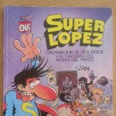 Tebeos: COMIC TEBEO SUPER LOPEZ AÑO 1988 CACHABOLIK BLUES BAND Y EL FANTASMA DEL MUSEO PRIMERA EDICIÓN. Lote 128614879