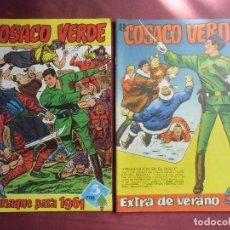 Tebeos: TEBEOS. EL COSACO VERDE.BRUGUERA , EXTRA DE VERANO 1961 Y ALMANAQUE. . Lote 128641355