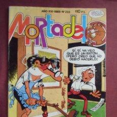 Tebeos: MORTADELO. 1985. Nº 233, 52 PÁGINAS, IMPECABLE.. Lote 128645855