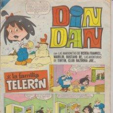 Tebeos: DIN DAN Nº 36 - FAMILIA TELERIN - - BRUGUERA 1966. Lote 129280543