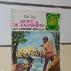 Tebeos: JOYAS LITERARIAS JUVENILES Nº 108 ESCUELA DE ROBINSONES JULIO VERNE - BRUGUERA -. Lote 129317759