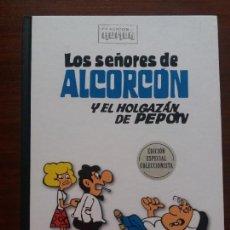 Tebeos: LOS SEÑORES DE ALCORCÓN Y EL HOLGAZAN DE PEPÓN CLÁSICOS DEL HUMOR RBA. Lote 129325939