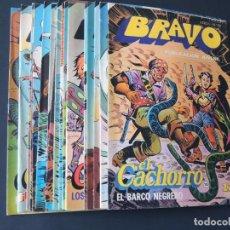 Tebeos: LOTE DE 20 EJEMPLARES DIFERENTES / EL CACHORRO ( BRAVO ) ED. BRUGUERA 1976 - 1977 / SIN USAR. Lote 142853906