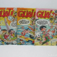 Tebeos: LOTE 3 COMIC - GUAI ! - ED.JUNIOR IBAÑEZ 1986. Lote 129443607