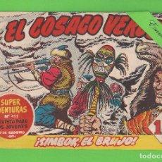 Tebeos: EL COSACO VERDE - Nº 58 - ¡SIMBOK, EL BRUJO! - (1961) - BRUGUERA.. Lote 129537179