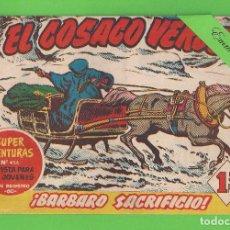Tebeos: EL COSACO VERDE - Nº 59 - ¡BÁRBARO SACRIFICIO! - (1961) - BRUGUERA.. Lote 129537631