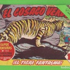 Tebeos: EL COSACO VERDE - Nº 61 - ¡EL TIGRE FANTASMA! - (1961) - BRUGUERA.. Lote 129537935
