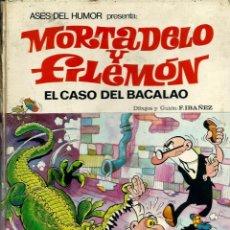 Tebeos: ASES DEL HUMOR Nº 5 - MORTADELO Y FILEMON - EL CASO DEL BACALAO - BRUGUERA 1971 1ª EDICION TAPA DURA. Lote 130274886