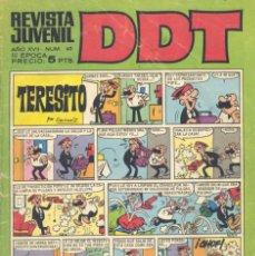 Tebeos: DDT Nº62. 3ª ÉPOCA. BRUGUERA. CONTIENE EL MUNDO DE LA HISTORIETA: ESCANDELL.. Lote 130357434