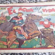 Tebeos: EL AGUA DE LA VIDA PUIG MIGUEL CUENTOS DE GRIM COMERCIAL GERPLA ORIGINAL ÉPOCA AÑOS 40 CON 4 ESTAMPA. Lote 130363730