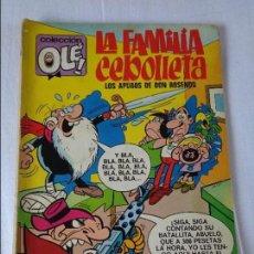 Tebeos: OLÉ Nº 59 LA FAMILIA CEBOLLETA - BRUGUERA 1ª PRIMERA EDICION -- Nº EN EL LOMO - 1972. Lote 130496050