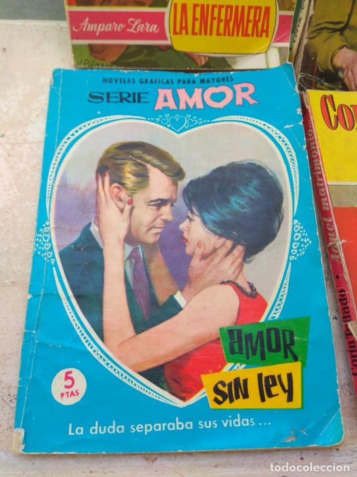 Tebeos: Lote Novelas Corin Tellado - Amparo Lara - Serie Amor - Foto 2 - 130794756