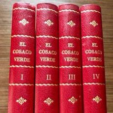 Tebeos: EL COSACO VERDE ENCUADERNADA EN 4 BONITOS TOMOS. REEDICIÓN. BRUGUERA. 144 NUMEROS. Lote 130764156