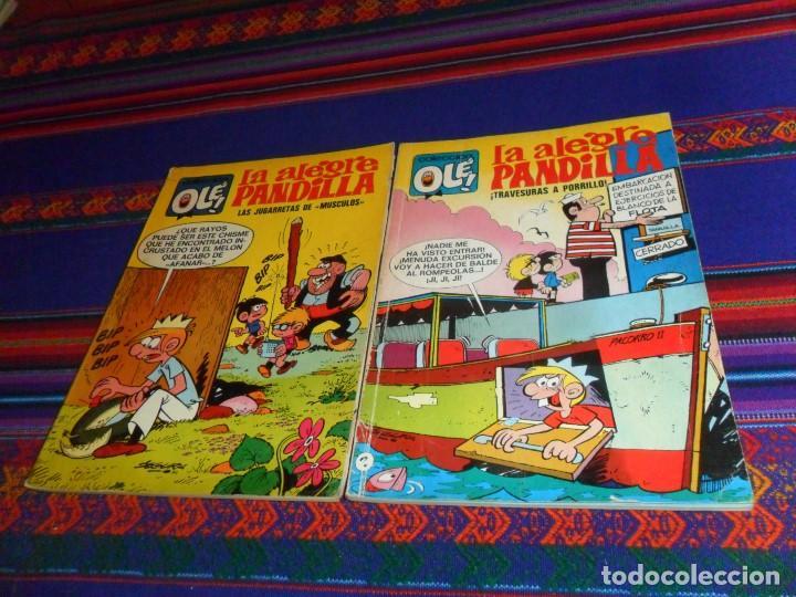 OLÉ NºS 43 Y 77 LA ALEGRE PANDILLA 1ª ED Nº LOMO BRUGUERA 1972 40 PTS. MUY DIFÍCILES. BUEN ESTADO. (Tebeos y Comics - Bruguera - Ole)