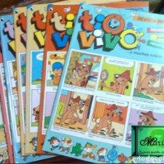 Tebeos: TIO VIVO 7 COMICS-HISTORIETAS-RECORTABLES 18-19-20-21-23-23-24-1986 NUEVO. Lote 131148288