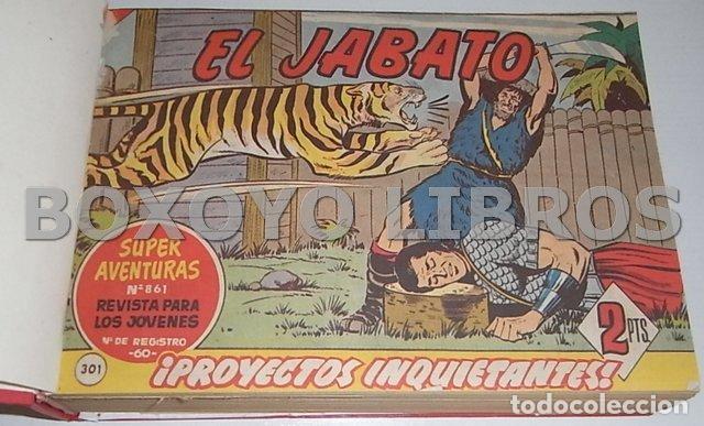 Tebeos: El jabato. Colección completa original encuadernada con cubiertas originales. 1958-1966 - Foto 15 - 131214408