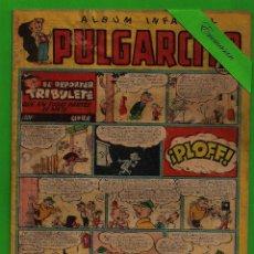 Tebeos: PULGARCITO - Nº 222 - ÁLBUM INFANTIL - EL REPORTER TRIBULETE - (1951) - BRUGUERA.. Lote 131565830