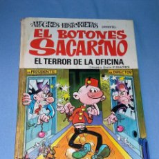 Tebeos: ALEGRES HISTORIETAS EL BOTONES SACARINO EL TERROR DE LA OFICINA Nº 12 AÑO 1971 1ª EDICION . Lote 132466802