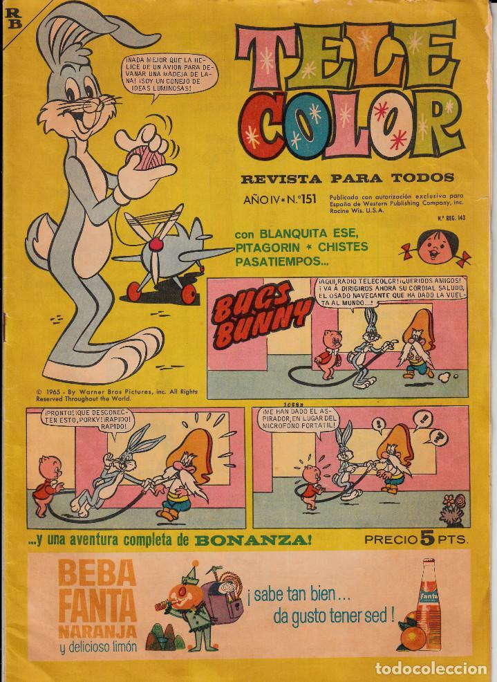 TEBEO - COMIC - TELE COLOR NUM. 151 (Tebeos y Comics - Bruguera - Tele Color)