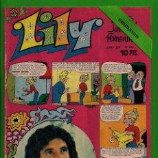 Tebeos: LILY Nº 681 - REVISTA JUVENIL FEMENINA - BRUGUERA - (1974). CON EL PÓSTER. PUBLICIDAD NANCY INTERIOR. Lote 132832690