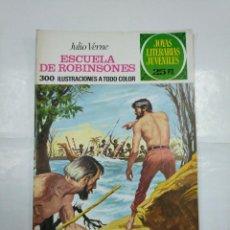 Tebeos: LA ESCUELA DE ROBINSONES. JULIO VERNE. JOYAS LITERARIAS JUVENILES Nº 108. BRUGUERA. TDKC2. Lote 132863234
