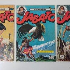 Tebeos: JABATO N° 2, 3 Y 6 - ALBUM ROJO - 1978. Lote 132913986