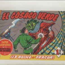 Tebeos: EL COSACO VERDE-BRUGUERA-FACSIMIL-APAISADO-B/N-REEDICION-AÑO 1960-Nº 144-LA NOCHE DEL DRAGON. Lote 133212134