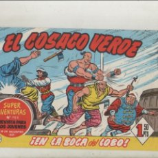 Tebeos: EL COSACO VERDE-BRUGUERA-FACSIMIL-APAISADO-B/N-REEDICION-AÑO 1960-Nº 143-EN LA BOCA DEL LOBO. Lote 133212234