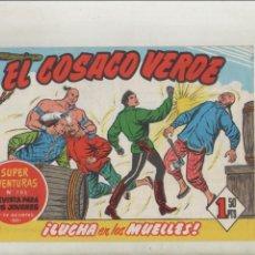Tebeos: EL COSACO VERDE-BRUGUERA-FACSIMIL-APAISADO-B/N-REEDICION-AÑO 1960-Nº 142-LUCHA EN LOS MUELLES. Lote 133212406