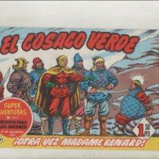Tebeos: EL COSACO VERDE-BRUGUERA-FACSIMIL-APAISADO-B/N-REEDICION-AÑO 1960-Nº 139-OTRA VEZ MADAME RENARD. Lote 133212506