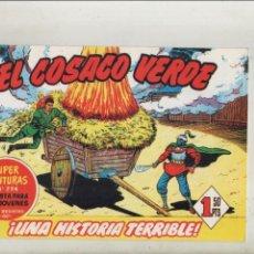 Tebeos: EL COSACO VERDE-BRUGUERA-FACSIMIL-APAISADO-B/N-REEDICION-AÑO 1960-Nº 5-UNA HISTORIA TERRIBLE. Lote 133212870