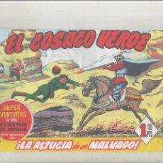 Tebeos: EL COSACO VERDE-BRUGUERA-FACSIMIL-APAISADO-B/N-REEDICION-AÑO 1960-Nº 3-LA ASTUCIA DE UN MALVADO. Lote 133212982