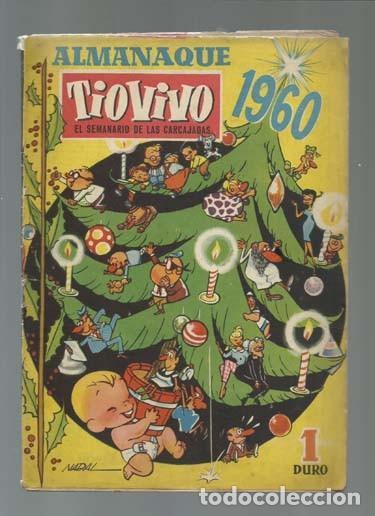 TIO VIVO ALMANAQUE 1960, BRUGUERA, (Tebeos y Comics - Bruguera - Tio Vivo)