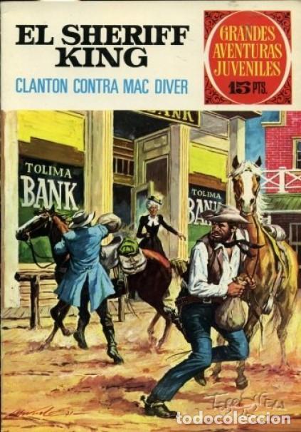 GRANDES AVENTURAS JUVENILES- Nº 14 -SHERIFF KING-CLANTON CONTRA MAC DIVER-F.DÍAZ-1972-BUENO-LEA-3749 (Tebeos y Comics - Bruguera - Sheriff King)