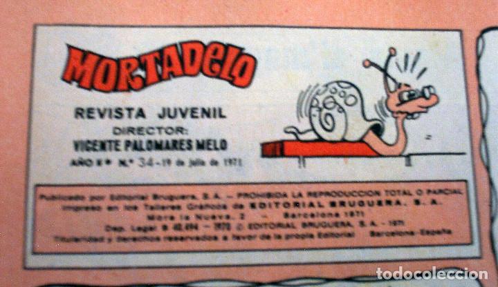 Tebeos: MORTADELO - NÚMERO 34 - AÑO 1971 - Foto 3 - 133387054