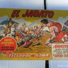 Tebeos: EL JABATO Nº 1 ORIGINAL. BRUGUERA 1958. DIFÍCIL Y CORRECTO ESTADO.. Lote 133527526