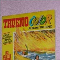Tebeos: LOS ISLOTES NEGROS. TRUENO COLOR. 1ª ÉPOCA Nº 19 AVENTURA COMPLETA. AÑO 1971.. Lote 130583134