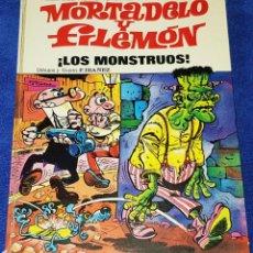 Tebeos: LOS MONSTRUOS - MORTADELO Y FILEMÓN - ASES DEL HUMOR - BRUGUERA (1973) 1ª EDICIÓN. Lote 133669546
