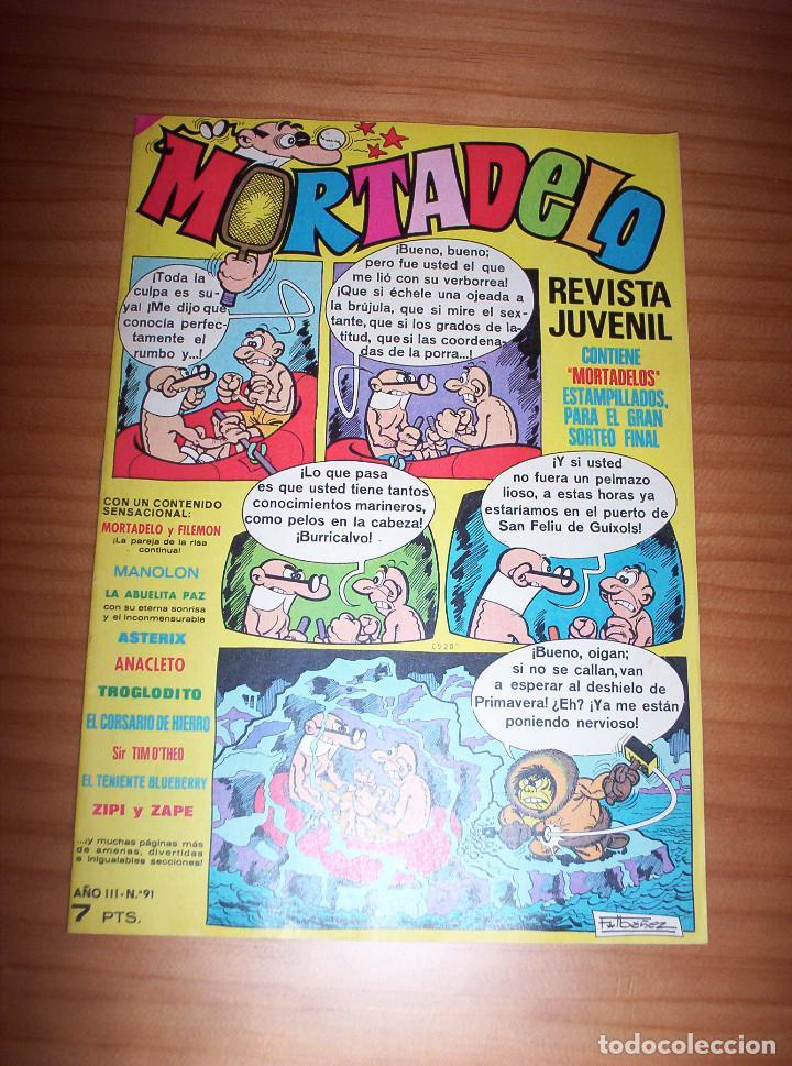 MORTADELO - NÚMERO 91 - CONTIENE MORTADELOS - AÑO 1972 - PERFECTO ESTADO (Tebeos y Comics - Bruguera - Mortadelo)