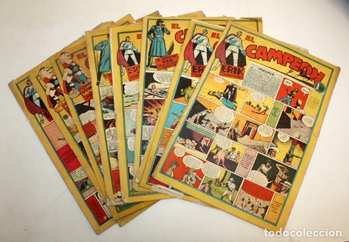 EL CAMPEON EDITORIAL BRUGUERA (1948) 9 NUMEROS MUY RARO Y ESCASO. (Tebeos y Comics - Bruguera - Otros)