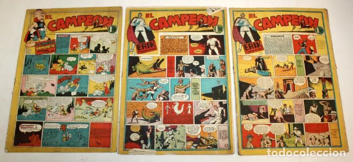 Tebeos: EL CAMPEON EDITORIAL BRUGUERA (1948) 9 NUMEROS MUY RARO Y ESCASO. - Foto 2 - 134006850