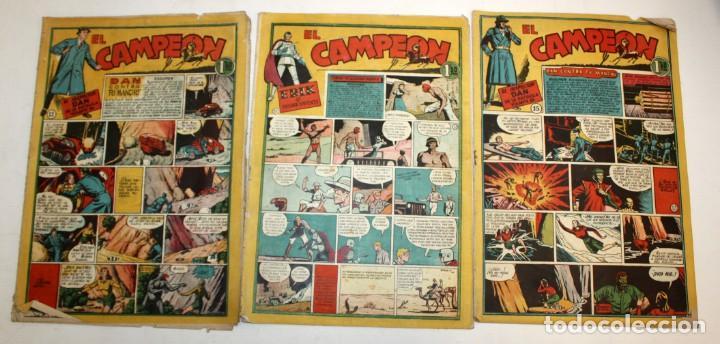 Tebeos: EL CAMPEON EDITORIAL BRUGUERA (1948) 9 NUMEROS MUY RARO Y ESCASO. - Foto 4 - 134006850