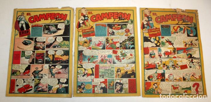Tebeos: EL CAMPEON EDITORIAL BRUGUERA (1948) 9 NUMEROS MUY RARO Y ESCASO. - Foto 5 - 134006850
