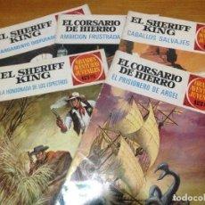 Tebeos: GRANDES AVENTURAS JUVENILES SHERIFF KING-CORSARIO DE HIERRO LOTE CINCO NÚMEROS. Lote 134219662
