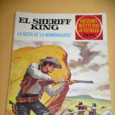 Tebeos: EL SHERIFF KING, Nº 30, LA SECTA DE LA MANDRAGORA, ED. BRUGUERA, AÑO 1975, ERCOM. Lote 134579386