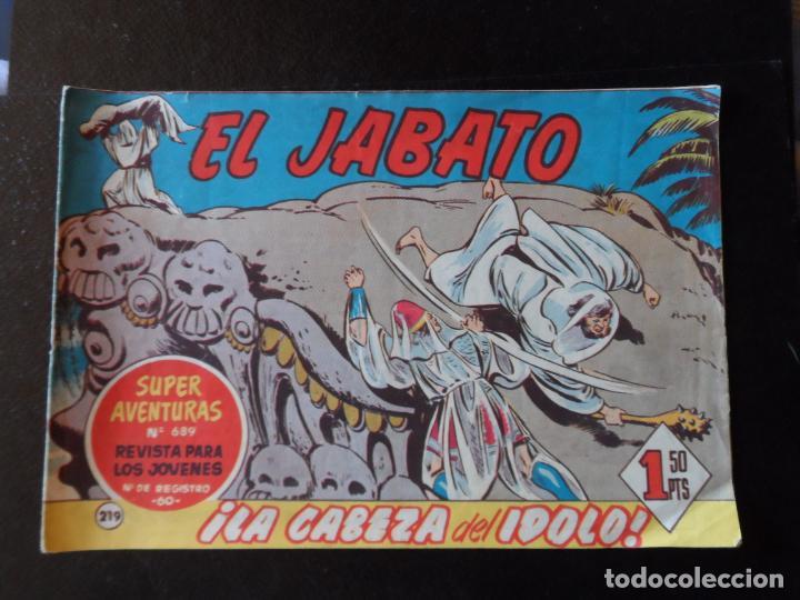 EL JABATO Nº 219 EDITORIAL BRUGUERA ORIGINAL 1962 (Tebeos y Comics - Bruguera - Jabato)
