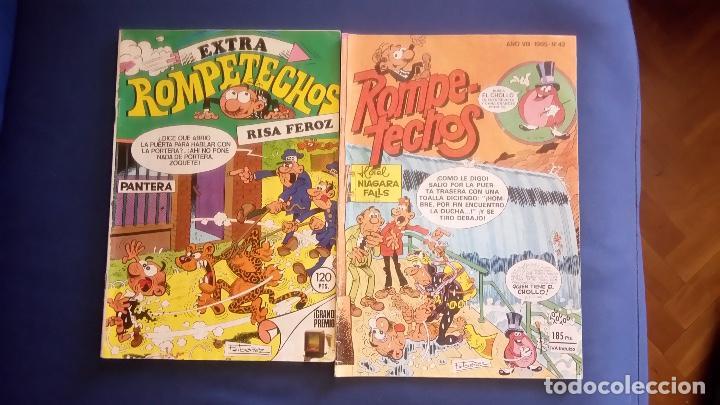 DOS REVISTAS DE ROMPETECHOS 1984/1985 (Tebeos y Comics - Bruguera - Otros)