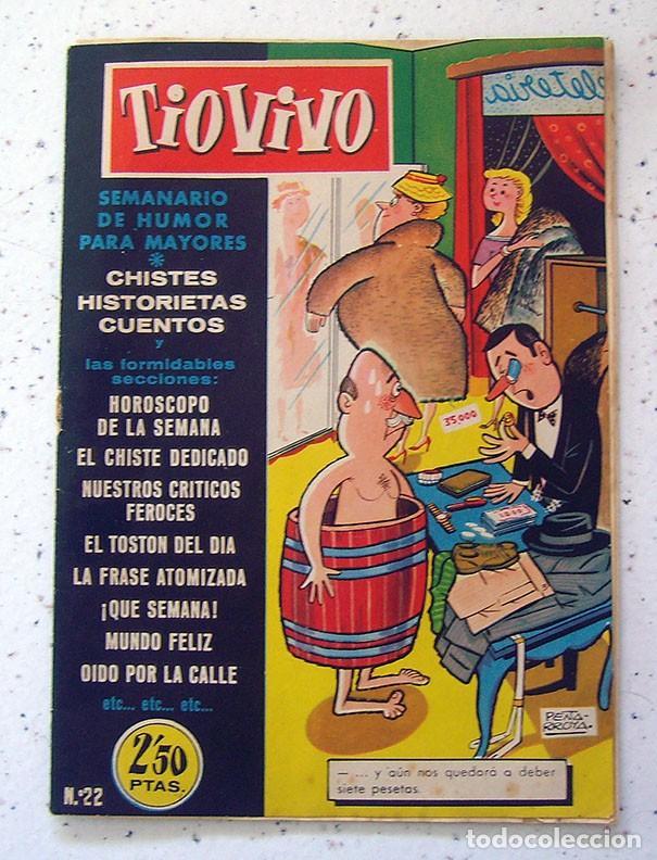 COMIC - TEBEO . TIO VIVO . PRIMERA ÉPOCA . NUMERO 22 (Tebeos y Comics - Bruguera - Tio Vivo)