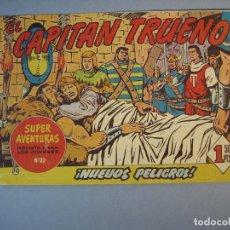 Tebeos: CAPITAN TRUENO, EL (1956, BRUGUERA) 70 · 3-II-1958 · NUEVOS PELIGROS. Lote 136036010